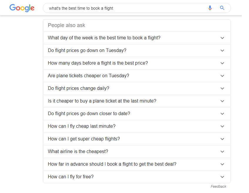 Google's People Also Ask Feature