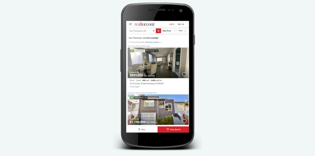 Mobile version of realtor.com