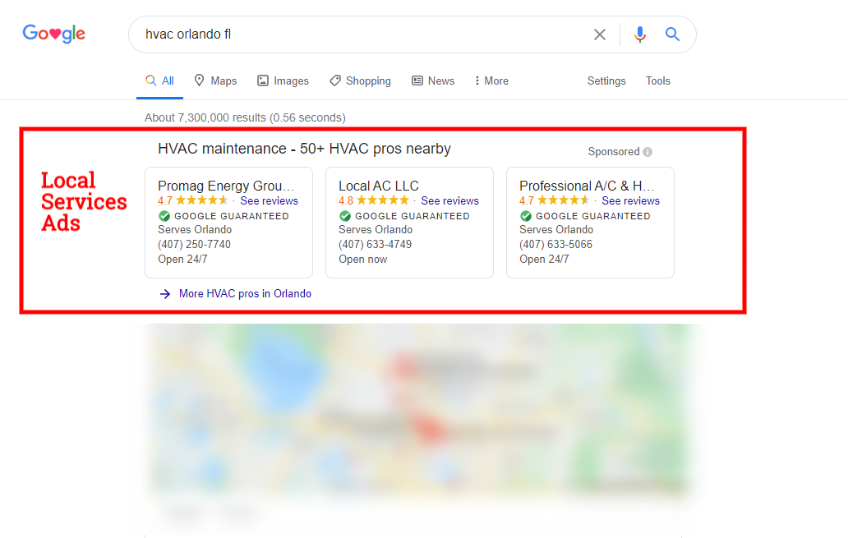 Google Local Services ads