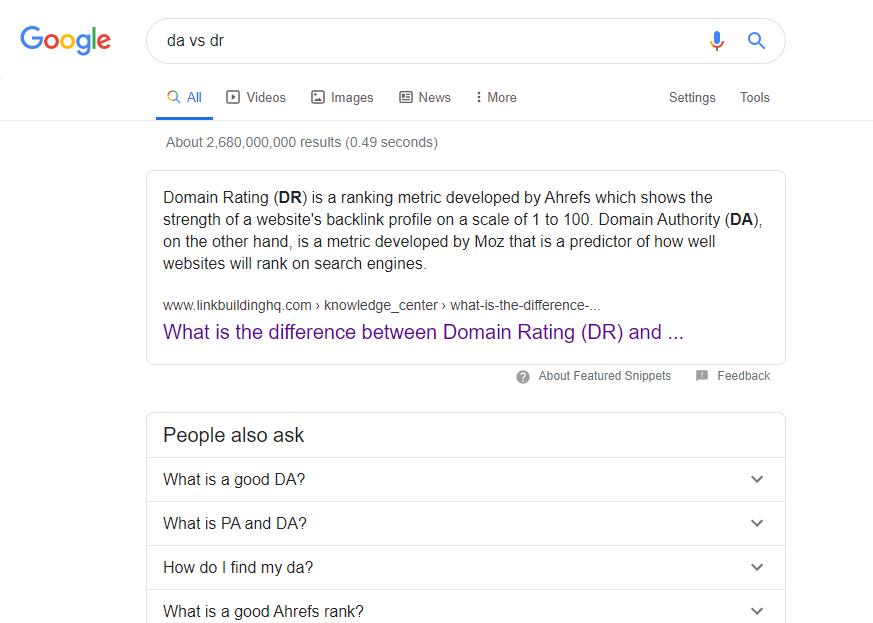 DA vs DR