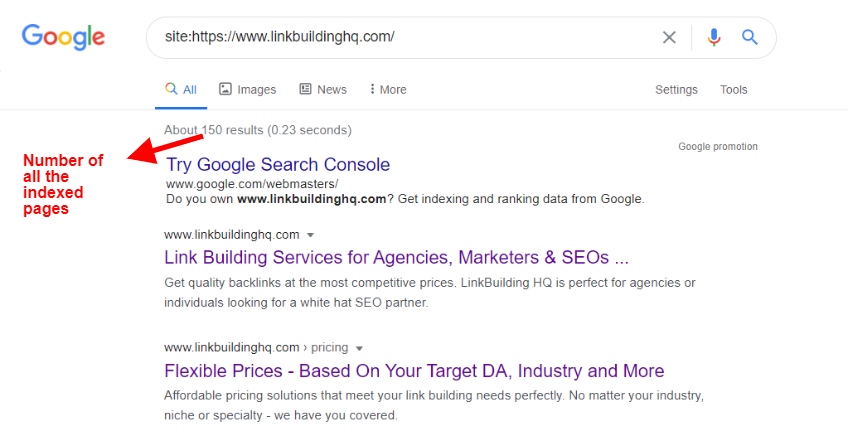 Check which pages are indexed