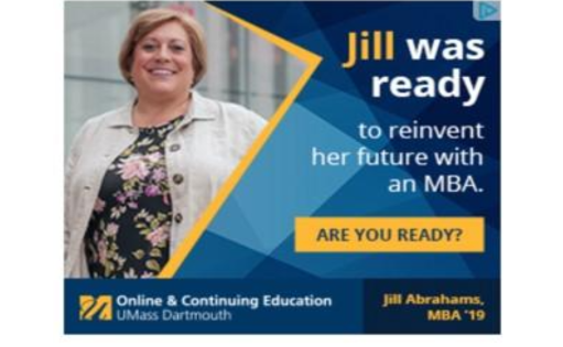 Retargeting ad example UMass Dartmouth