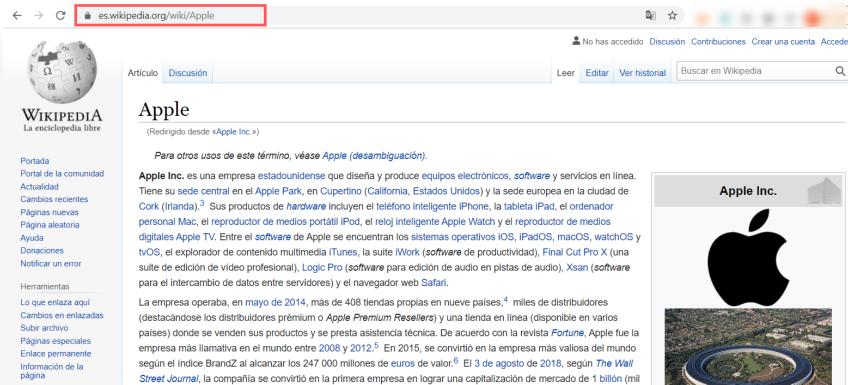 Apple Spain WikiPedia