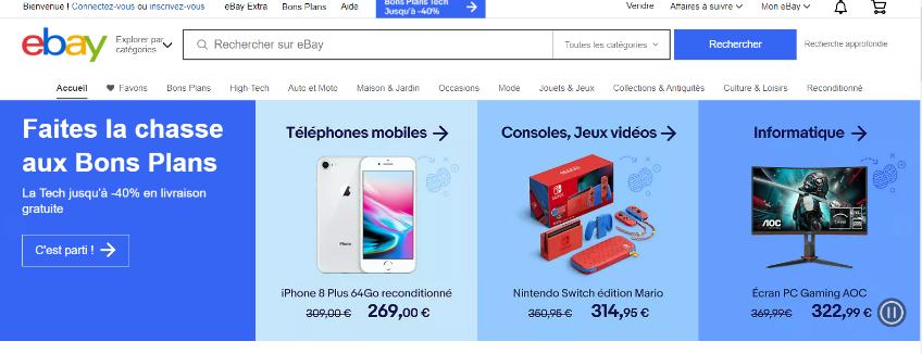 eBay France Page