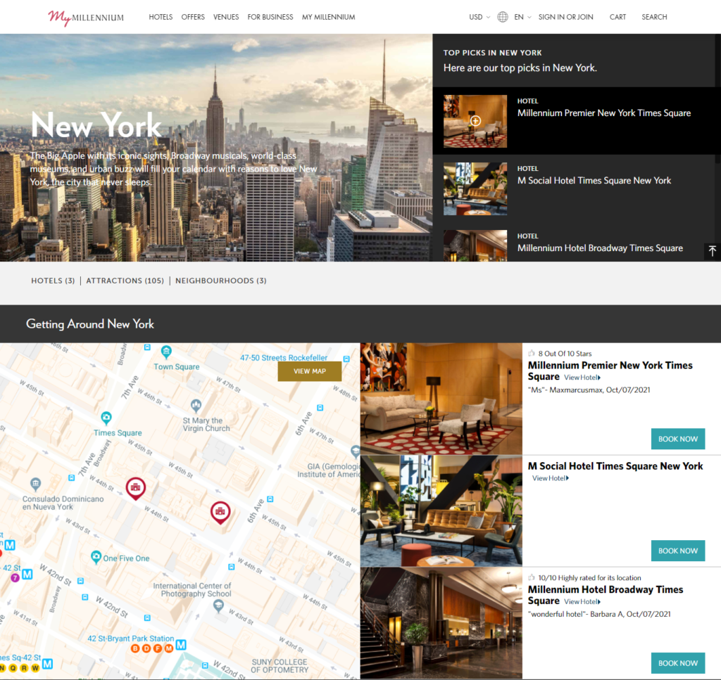 millennium hotels in new york city